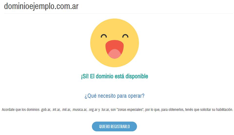 Como registrar un dominio en NIC Argentina